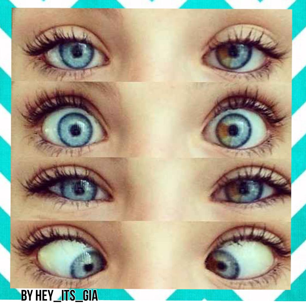 Как сделать голубые глаза но