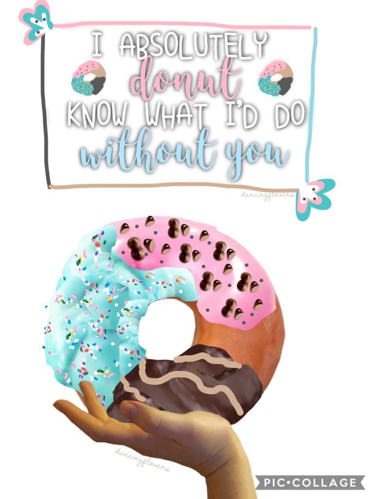 🍩tap 🍩 Happy Donut day peeps!! Entry to the gorgeous @Leila101 's contest! How are u all?? I thought I might try to do some tags like Leila does, so here goes!! I got featured again, TYSM so happy!! 😱😱😱💞👌🌿😘 Tags: pic collage only,PC only,donut day,donuts,
