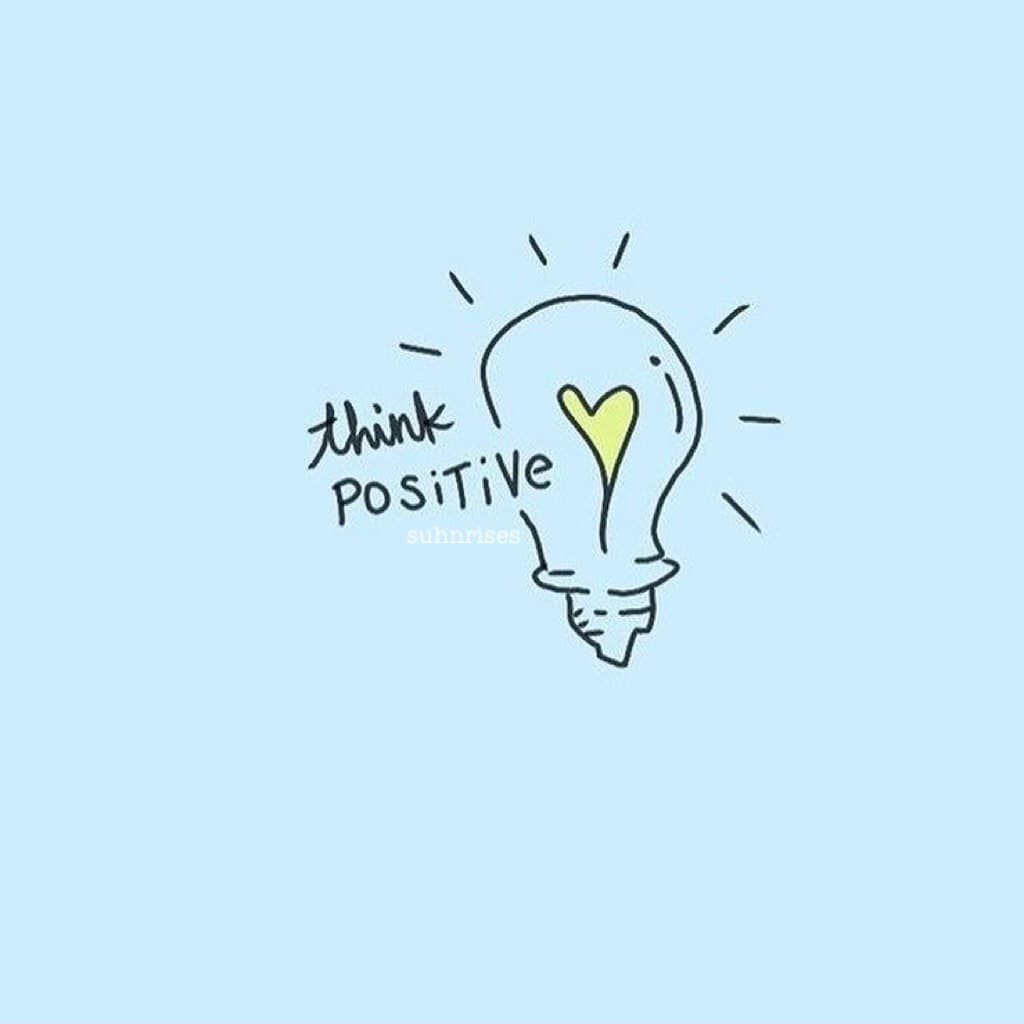 (2.24.18)  think positive! 🦋 focus on the good & smile! :)) have a great day!! 🌻🌈