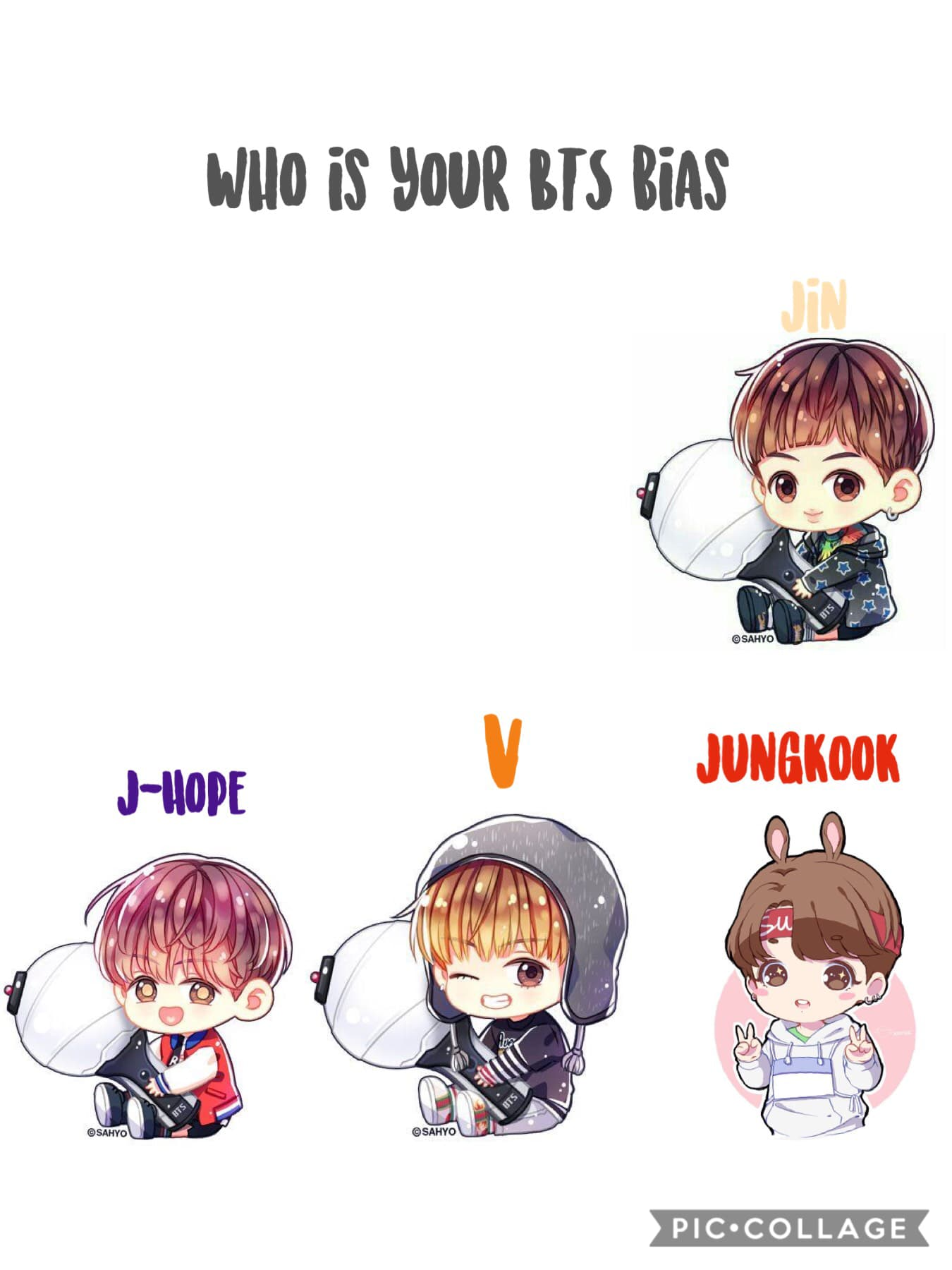 Who is your BTS bias (only 4 left!)