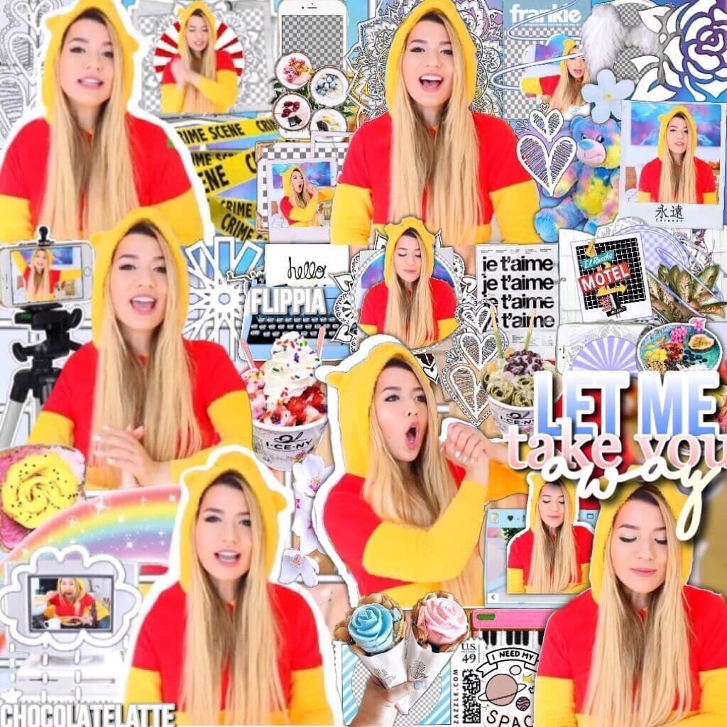 Collab with flippia 🍫💗tap! I love her onesie goalzz 😻 QOTD:Favorite childhood show/movie AOTD: like every childhood pretty much 😂💓 lol that's what I think about bc of pooh!!