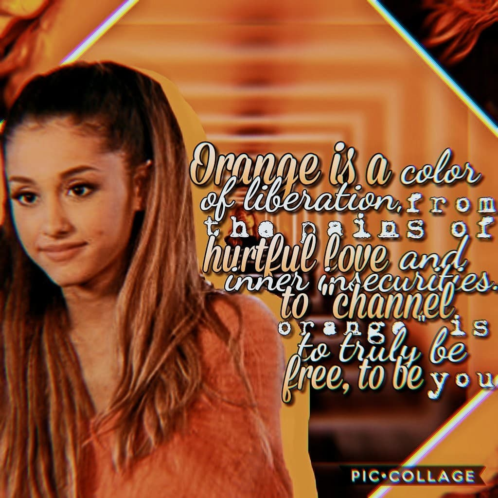 🧡Tappo🧡 This was an entry to a games on my main acc✌ the quote doesnt really fit with my theme...but whatevr it still has ariana in it so😂 and its orange so that's a plus👌🧡