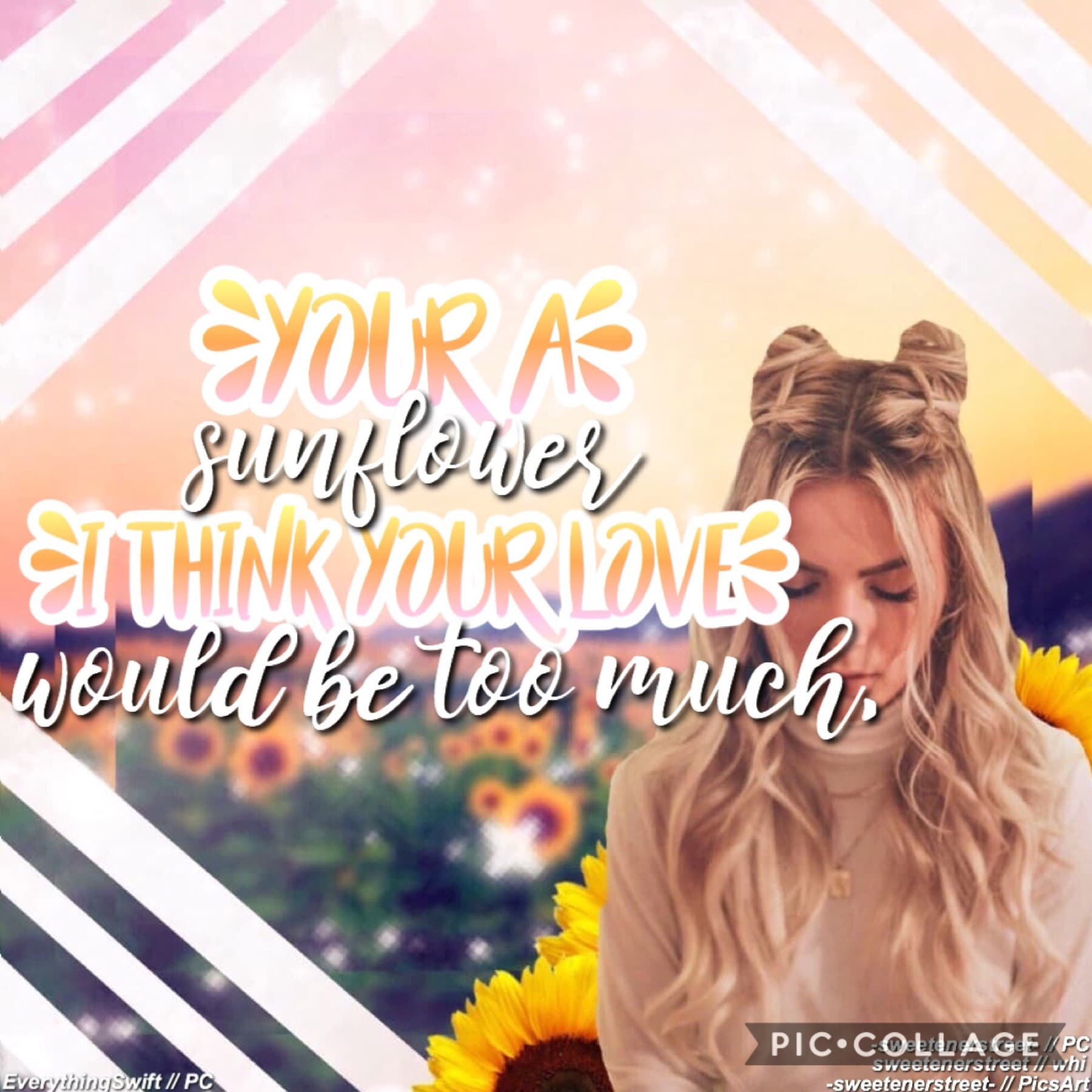 Collab with the awesomely, talented...🥁🥁🥁 EverythingSwift ! 💛💛💛🤩🤩🤩 I absolutely love this song! ☀️☀️🌻🌻