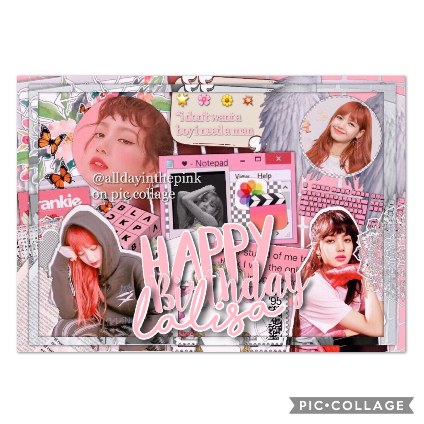 happy birthday lalisa manoban 🌸🌼
