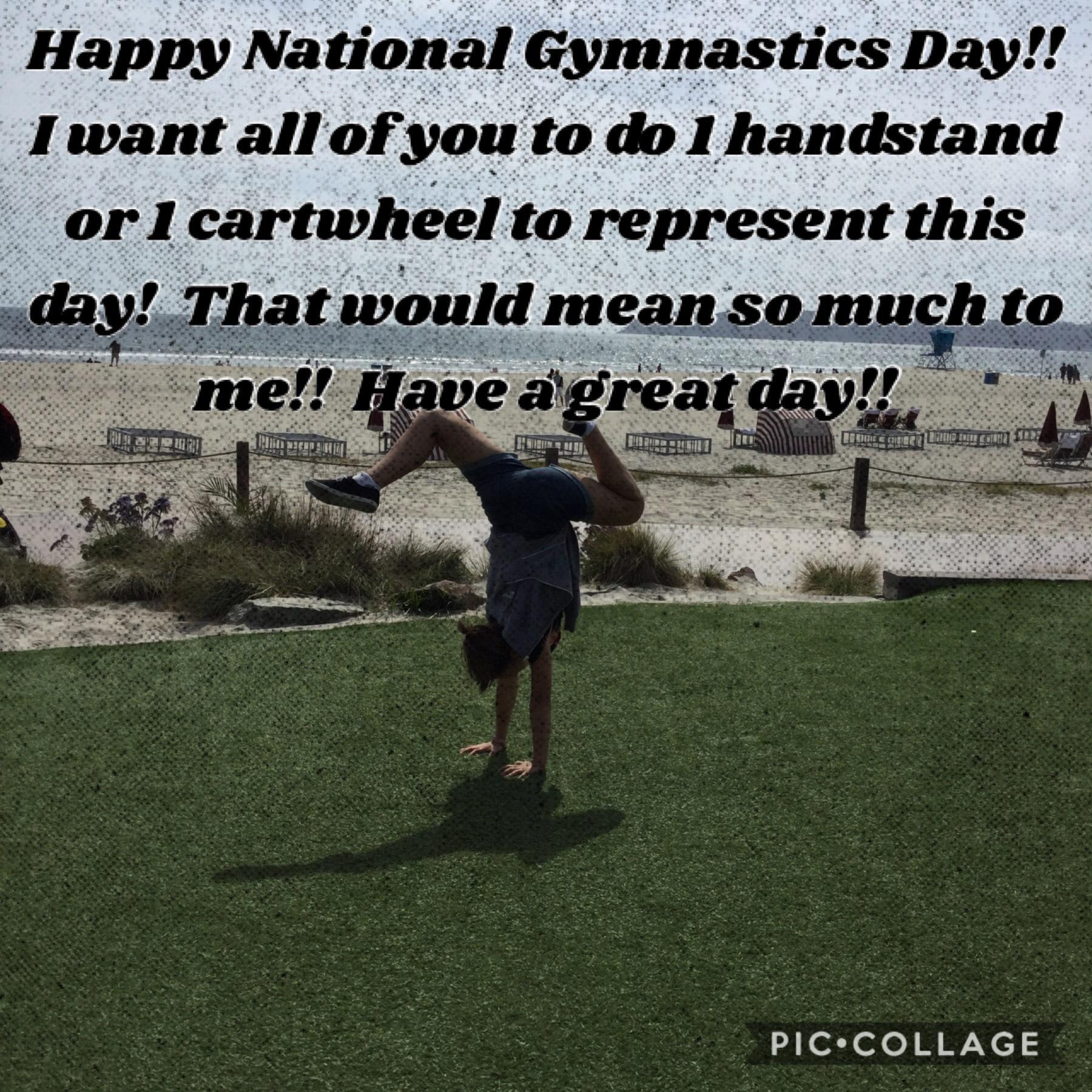 Happy National Gymnastics Day!!