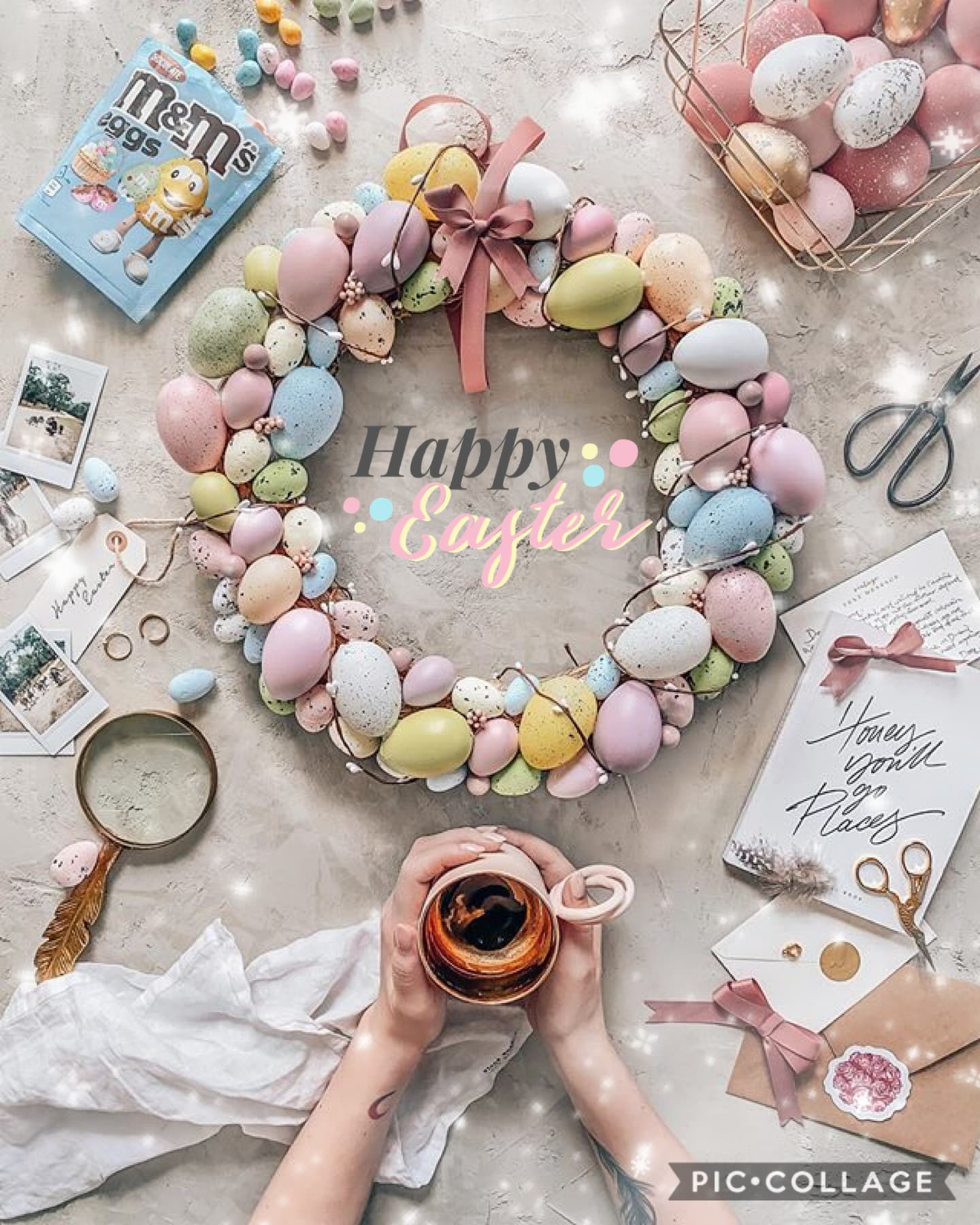 Happy Easter!🐣💛 I know it's been ages, but I'm trying to come back 😂 I've lost so much inspiration recently but hopefully I can stay as active as I can 😊 How have you all been?i know these are such uncertain times but on pic collage we can all stand toget