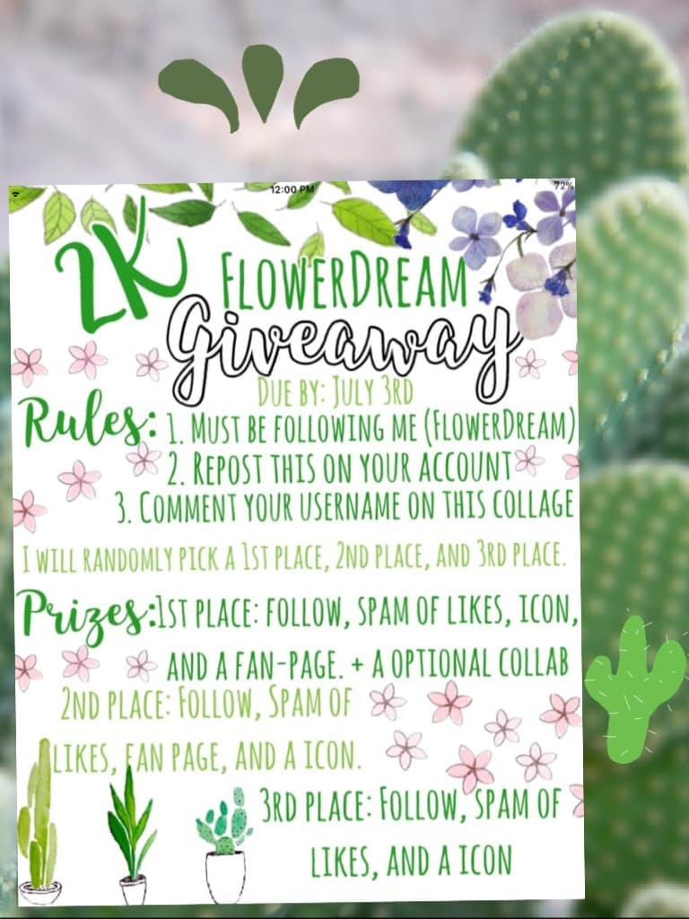 This is for FlowerDream's contest! She is amazing and kind, go follow her!! ❤️❤️🌵🌵❤️❤️