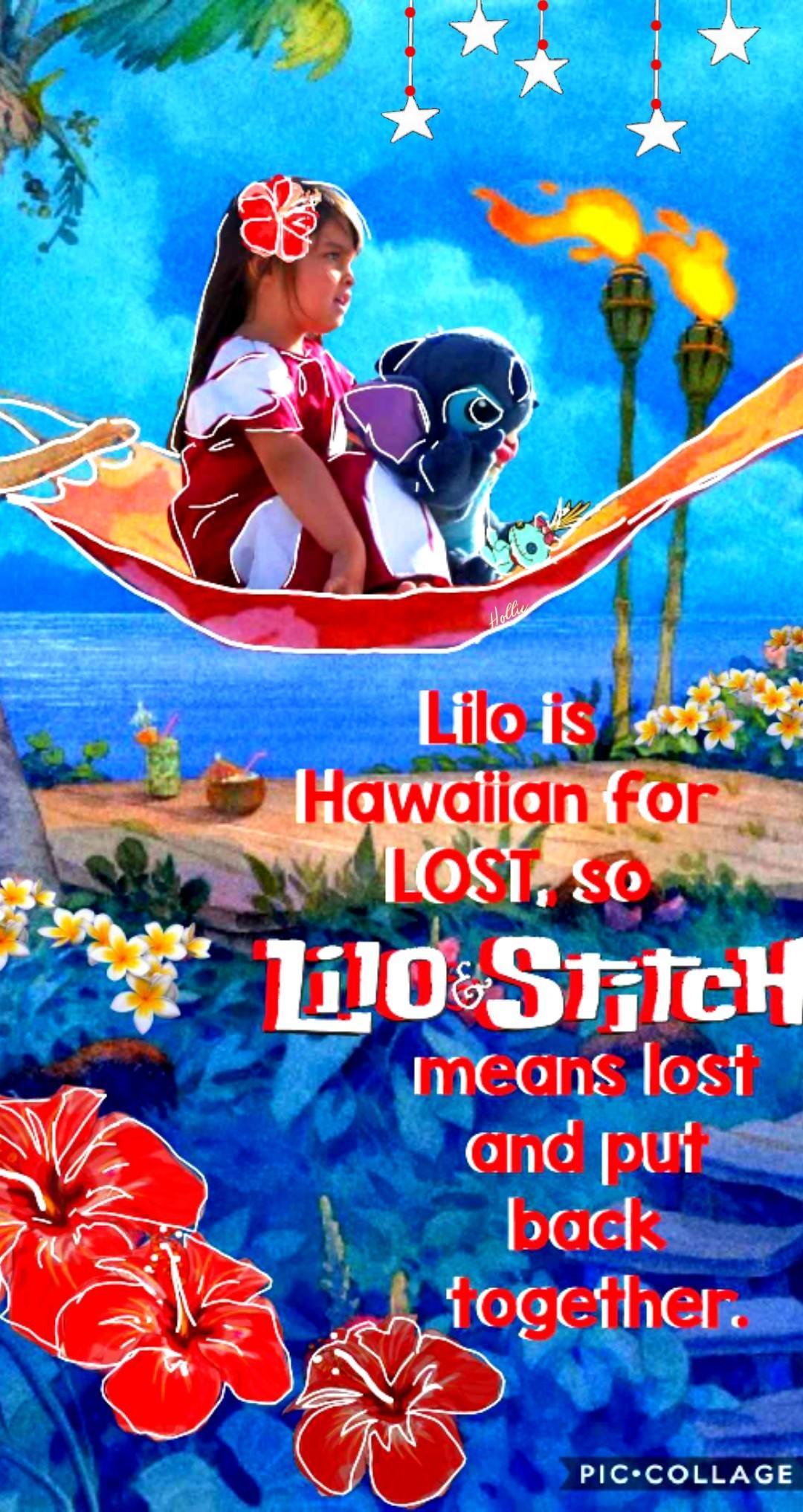 """lost and put back together""  . ohana lilo and stitch"