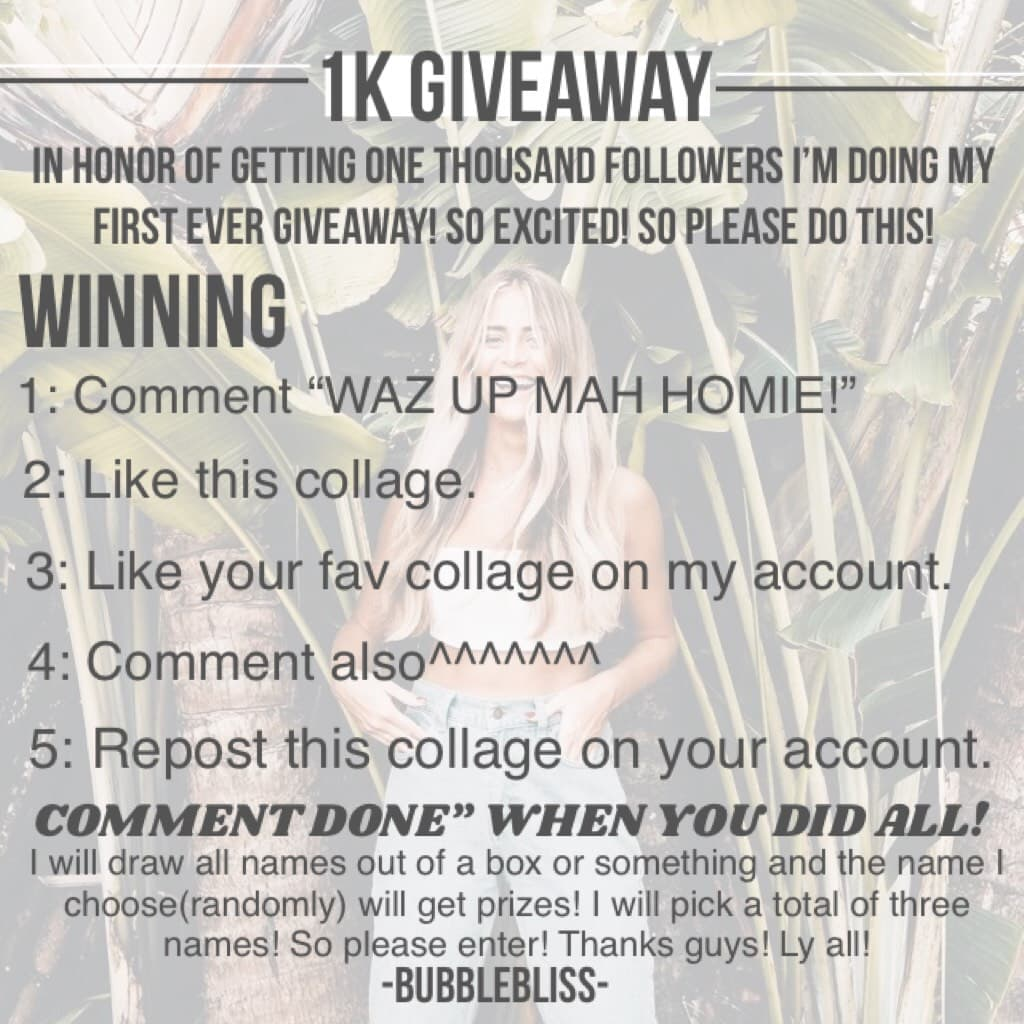 MAH FIRST EVER GIVEAWAY! ENTER!
