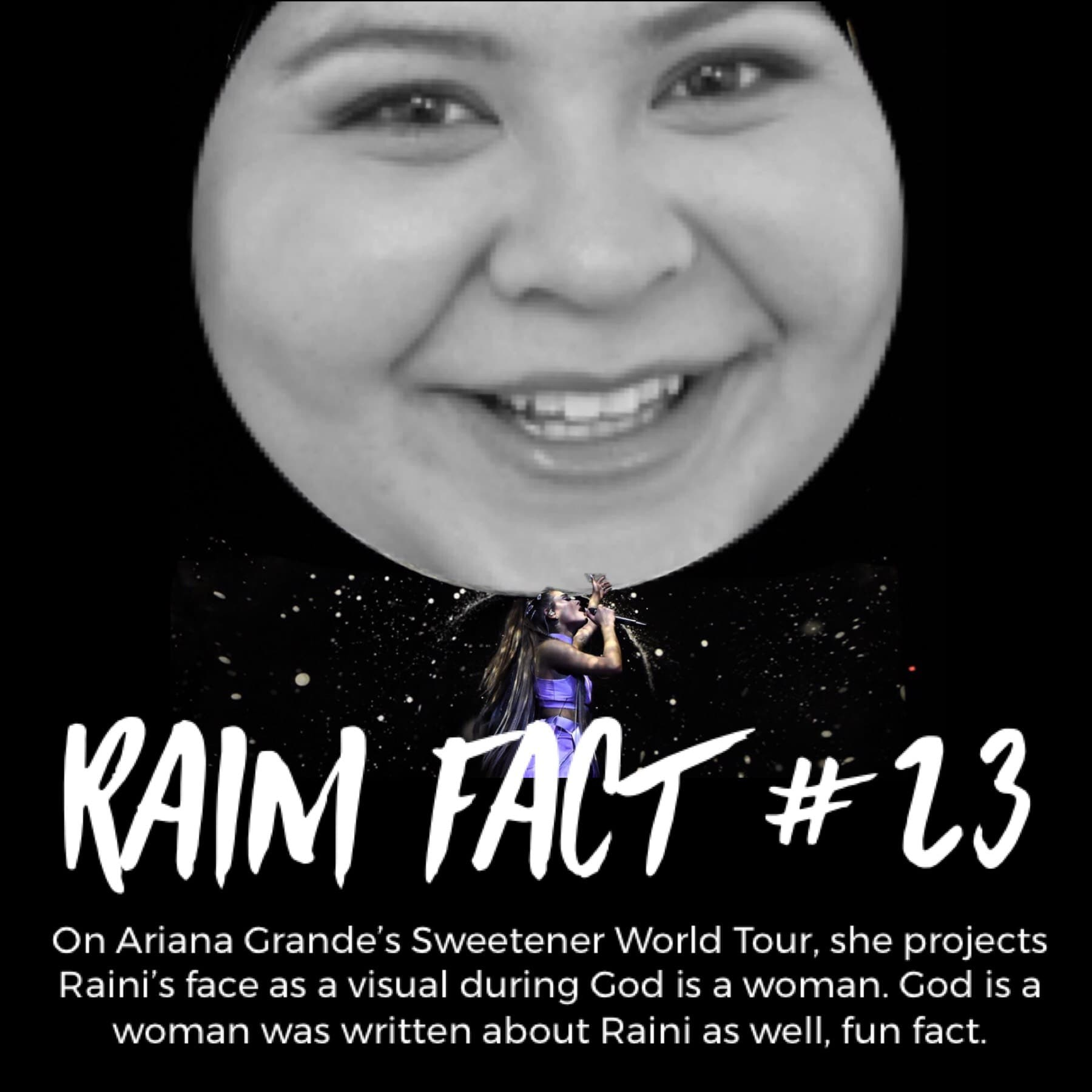 Raini's the universe and we're all N-A-S-A!
