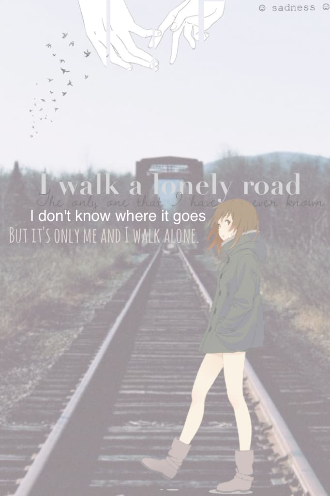 I walk a lonely road