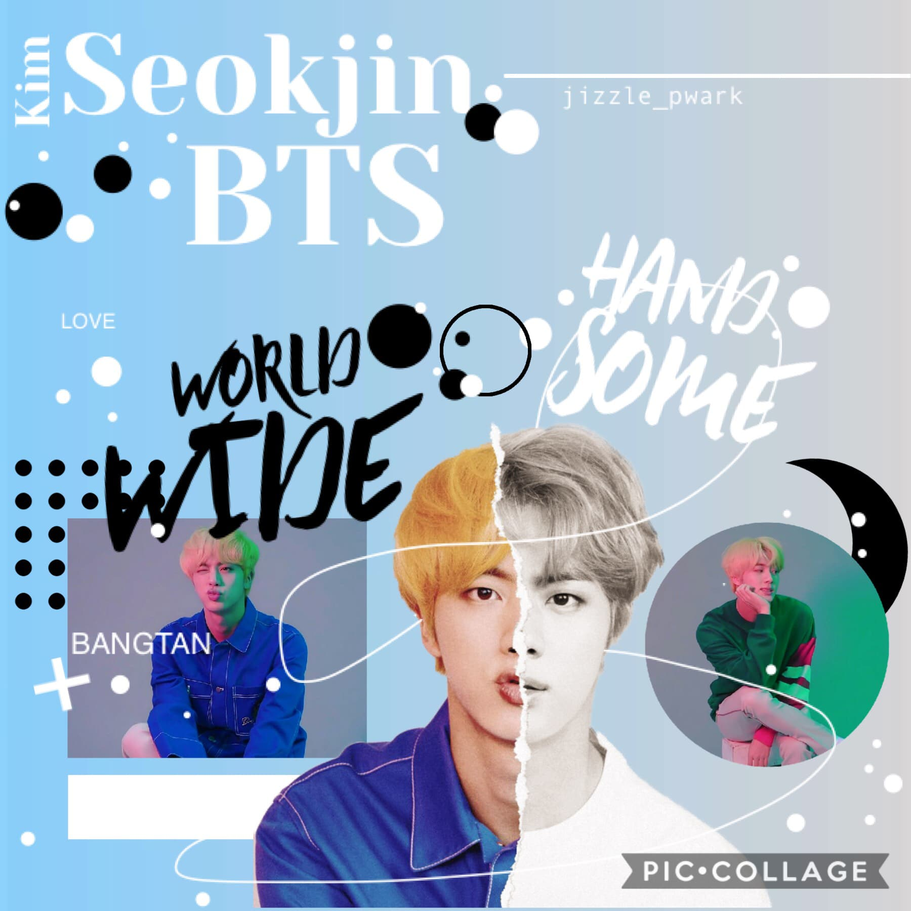 Inspired by: rose_panda Ugh! I'm so late for birthday collages 😭 I'm so sorry Jin...