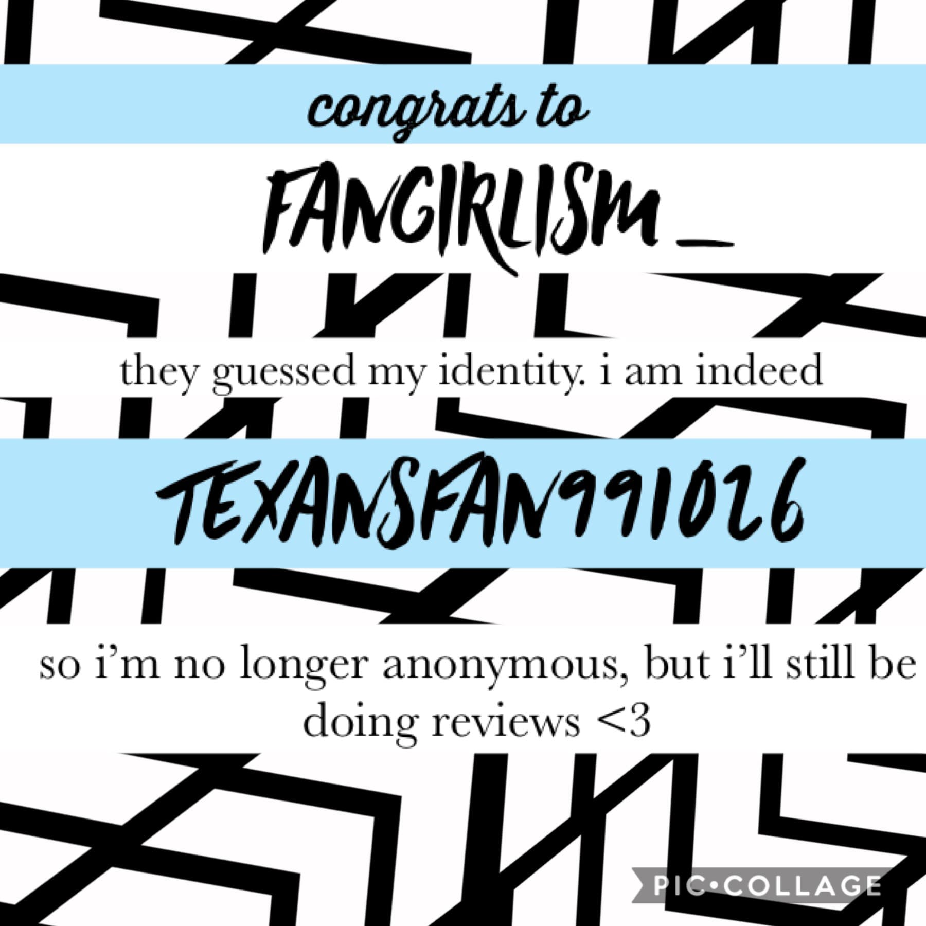 I've been exposed!! Congrats Fangirlism_. You'll get a fanpage!