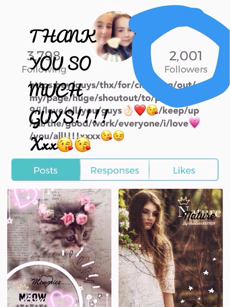 THANK YOU SO MUCH GUYS!!!! Xxx😘😘
