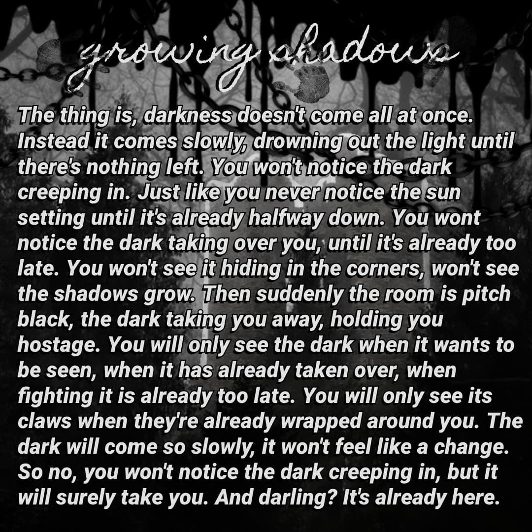 Friday is poem day. Pc really is getting more and more dead, huh? Also I started posting my poetry on Wattpad (@wingspaintedblack) if you're interested :)