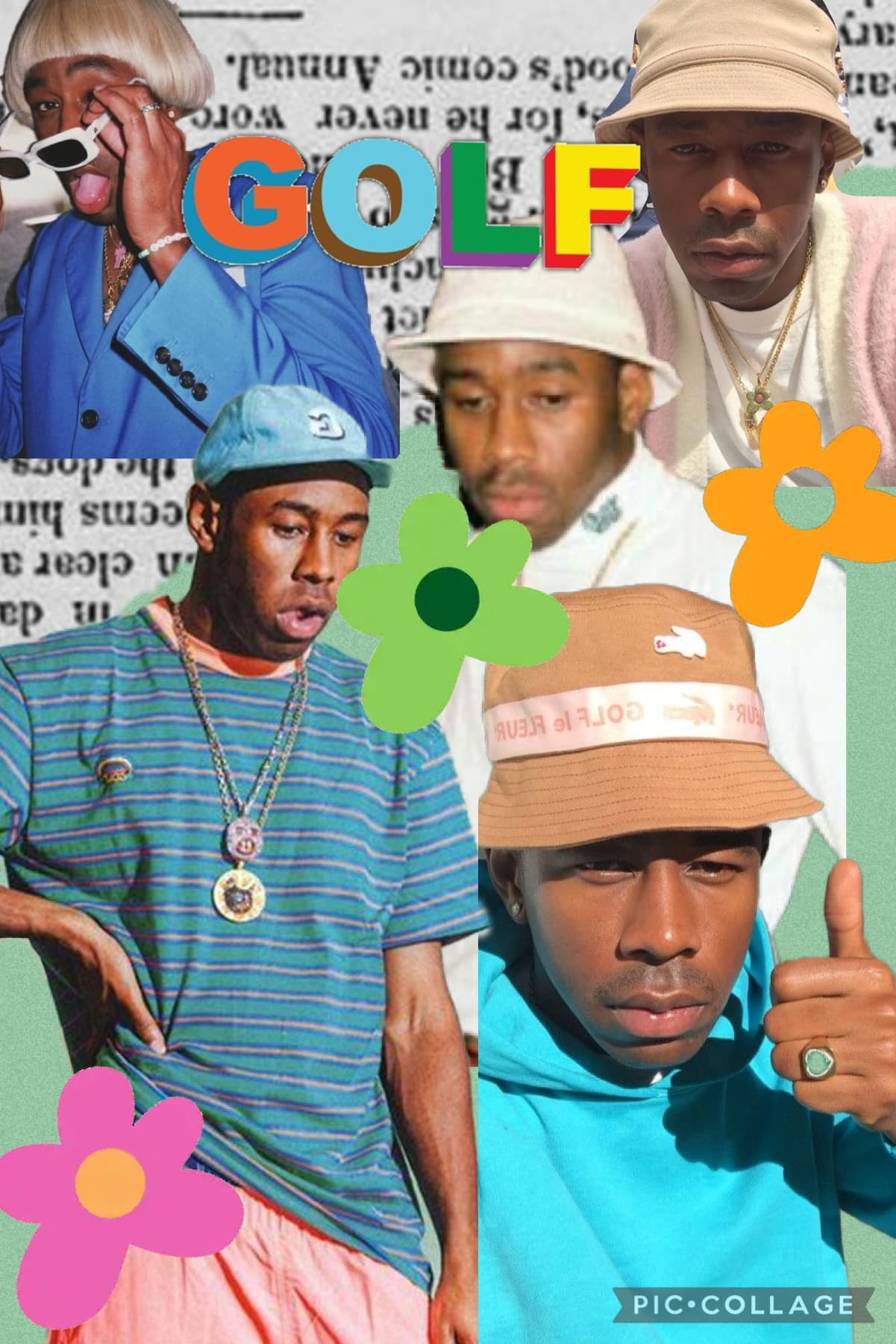🏌️TAP🏌️ I've been getting into tyler's music lately👀 also he's so funny😭 question: favorite album to fall asleep too?  answer: your city gave me asthma model: Tyler The Creator !!