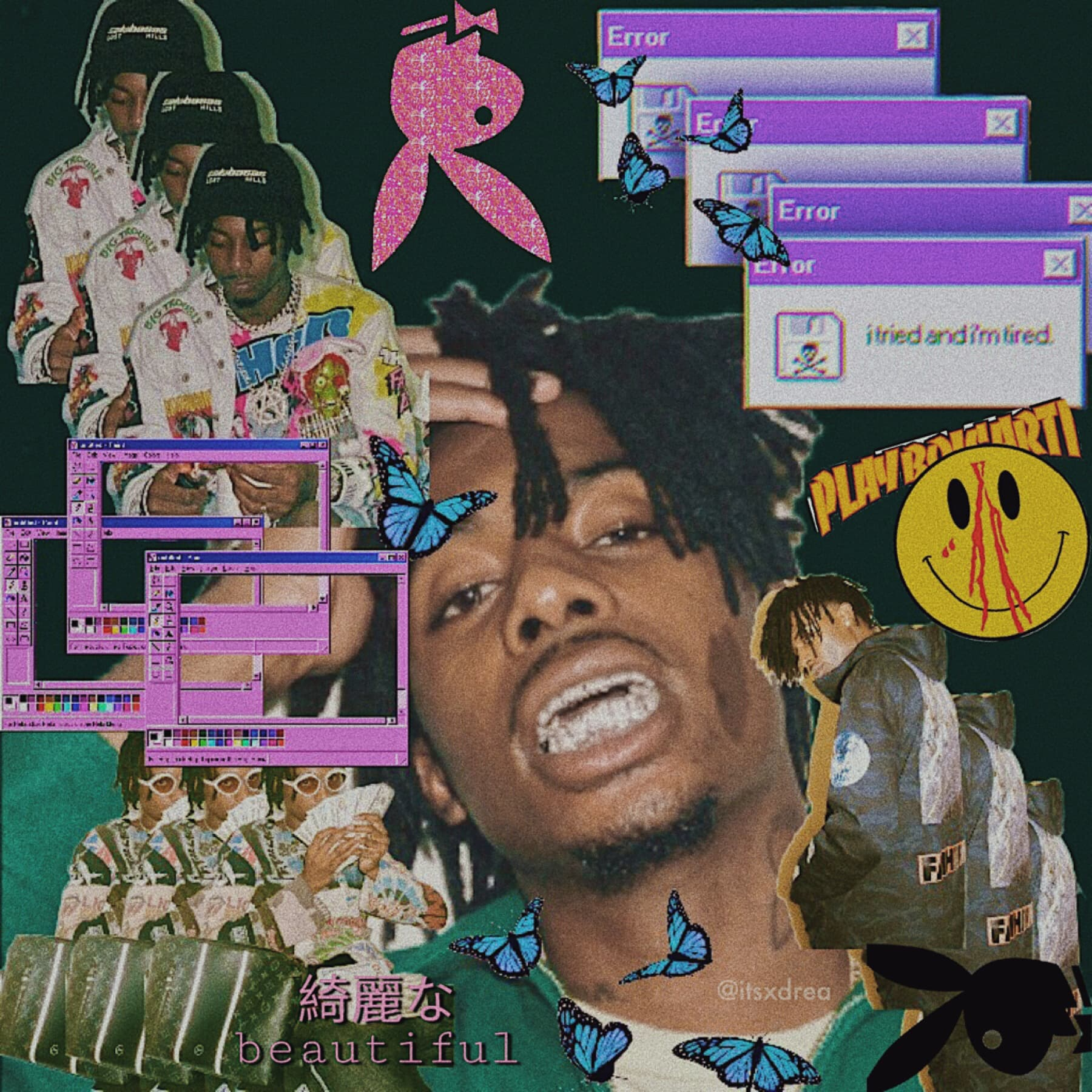 👾 • playboi carti • | inspired by pinterest | wow she posted another edit 😳 i kinda wanna do more edits of artists outside of kpop. just comment what you think? and your wish is my command :-)