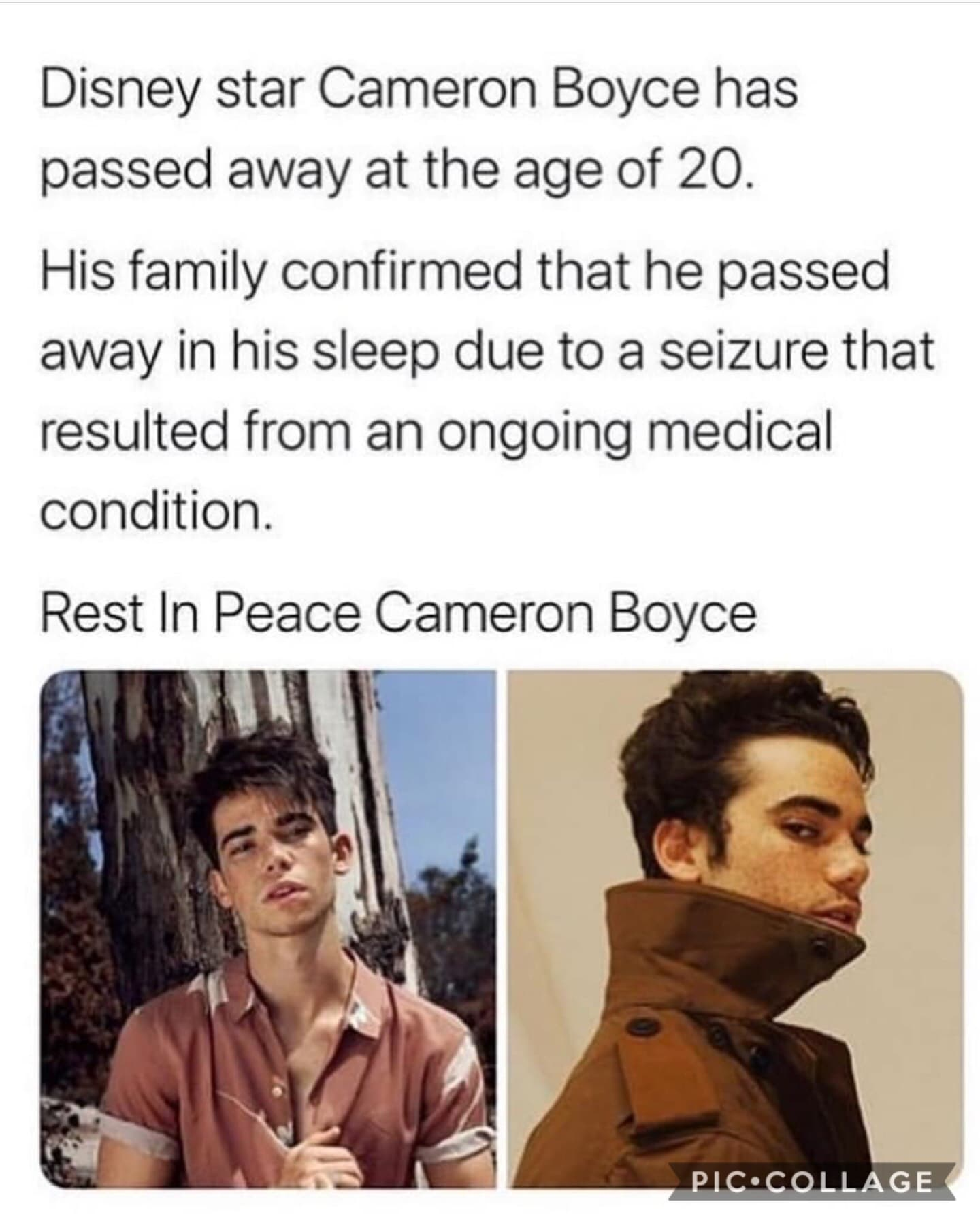 ✊🏻🤧❤️rest in peace, you are a true legend❤️🤧✊🏻you played such a big role in my childhood and were my favorite character from descendants. We're gonna miss you 💕
