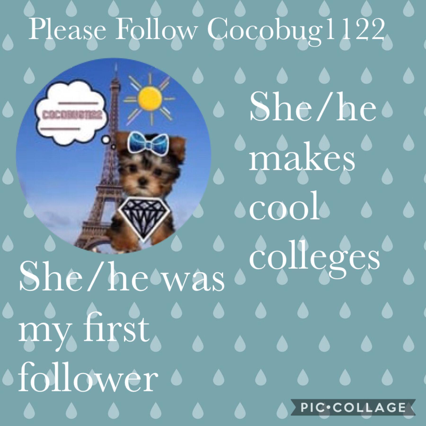 Please follow Cocobug1122
