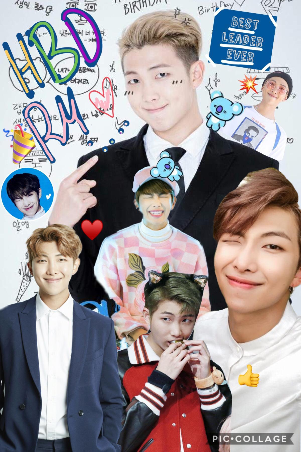 Happy birthday RM-BTS🎉🎉🎉❤️❤️❤️