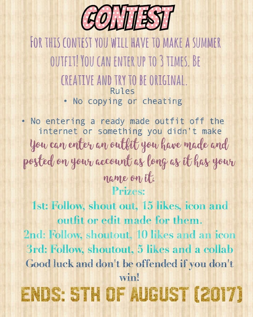 Everyone who enters gets a follow and likes❤ Please enter and spread the buzz. Don't get offended if you don't win as it is always a tough descision. Im so excited to see what you guys come up with. Xxx -Zara