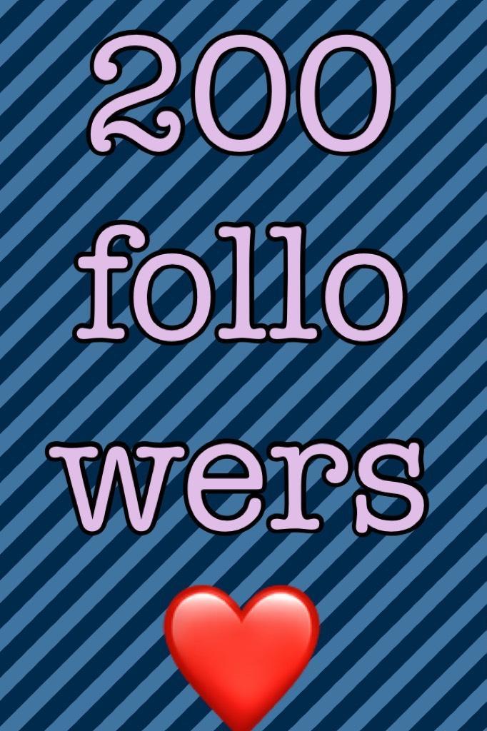 200 followers ❤️