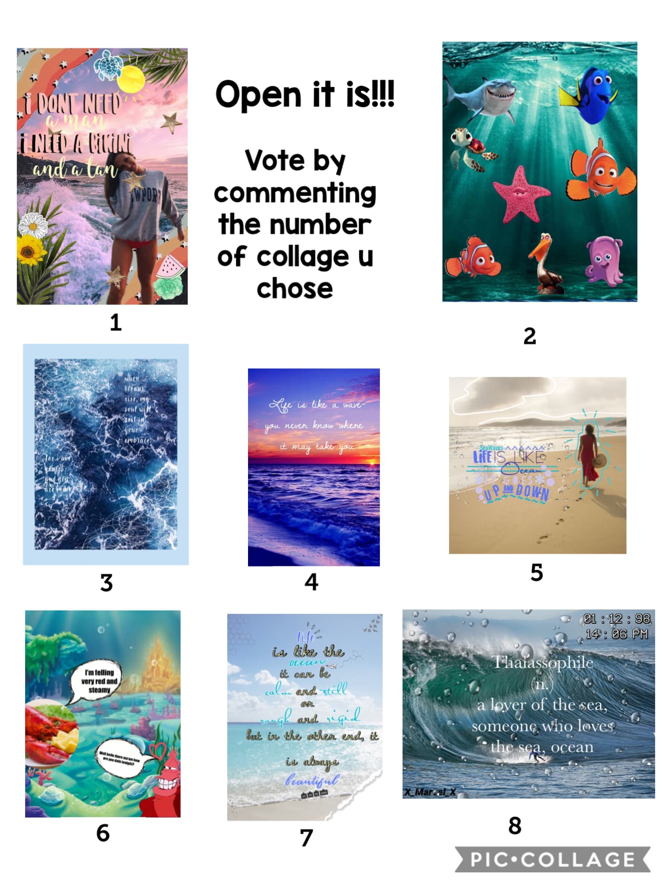 🌊TaP🌊 Voting for round 1 is here, you can vote if you have participated or not, you can only vote once. Please try to not vote for yourself. Thanks y'all  - August