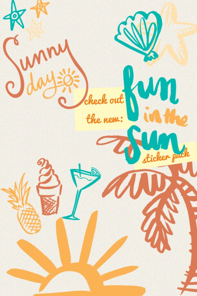 check out the new: fun in the sun sticker pack!