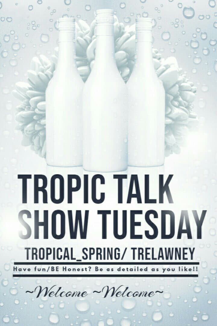 Welcome to Tropic Talk Show Tuesday. Today's interview will be with trelawney. He is crazy talented and super kind!! Colin will literally blow your mind. I HOPE THIS INTERVIEW WILL be interesting and give you a little bit about trelawney's account!!