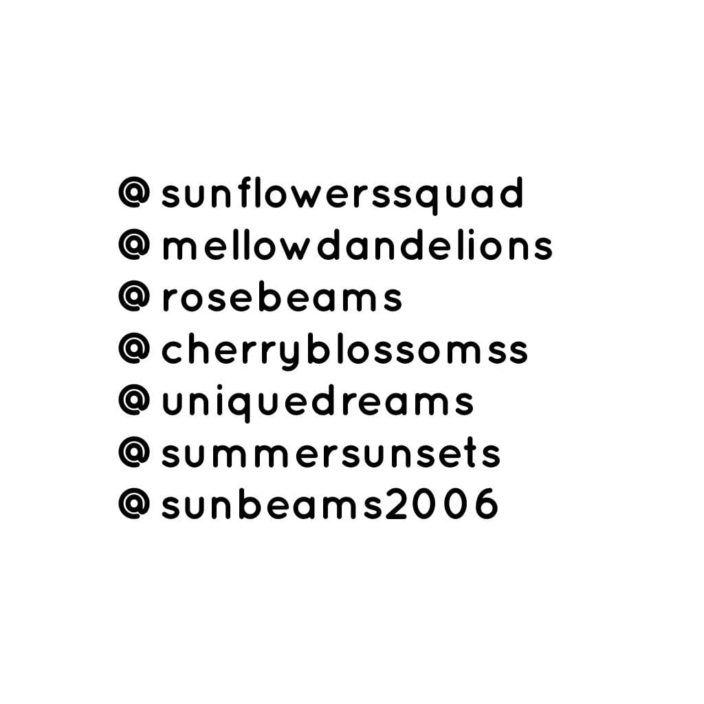 shoutouts, eh? yeah, these are all my friends that have made accounts 😂🌊