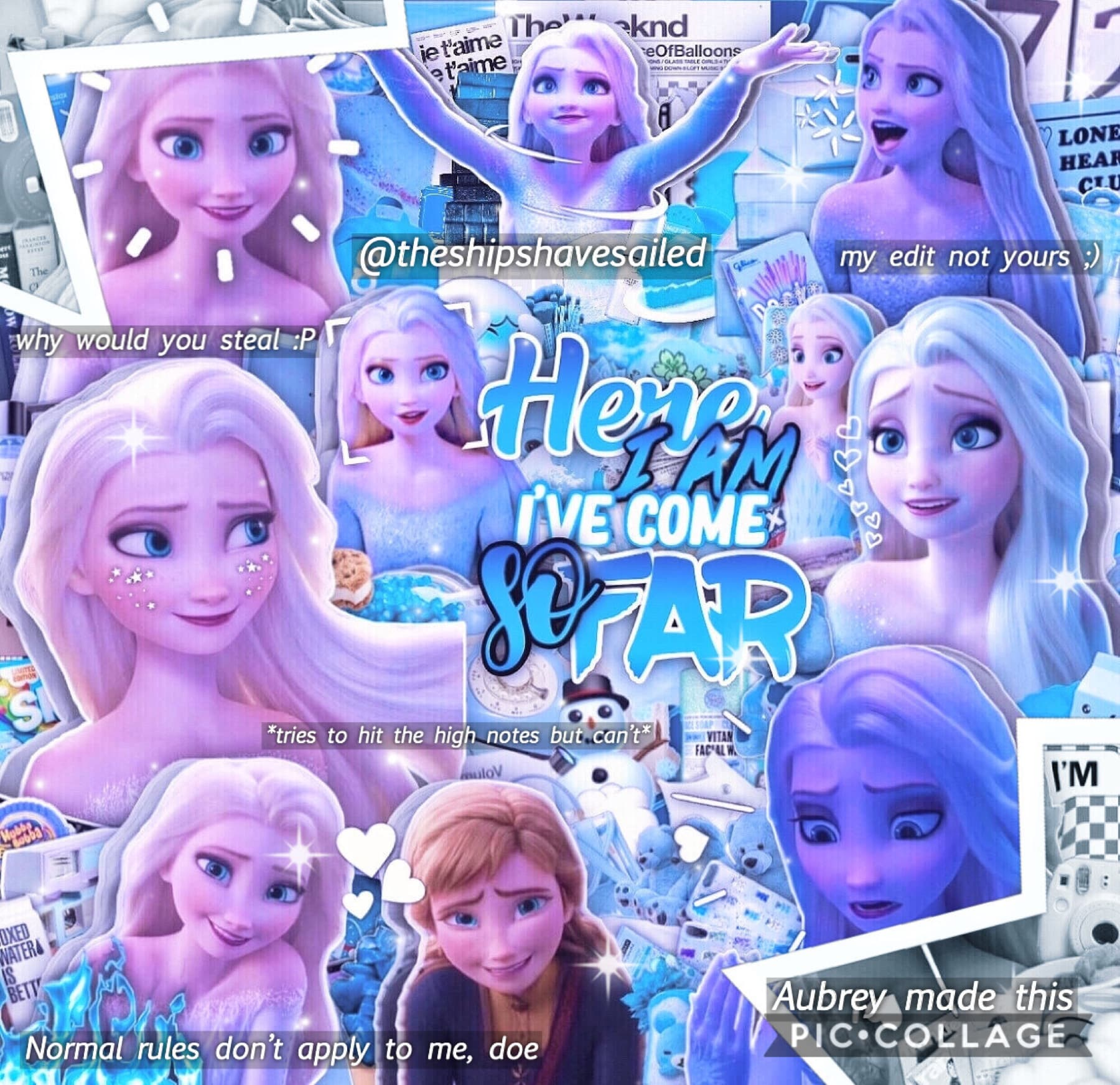 💙Elsa from Frozen 2 edit!💙 🤍Made on PicsArt! Hope y'all like!🤍
