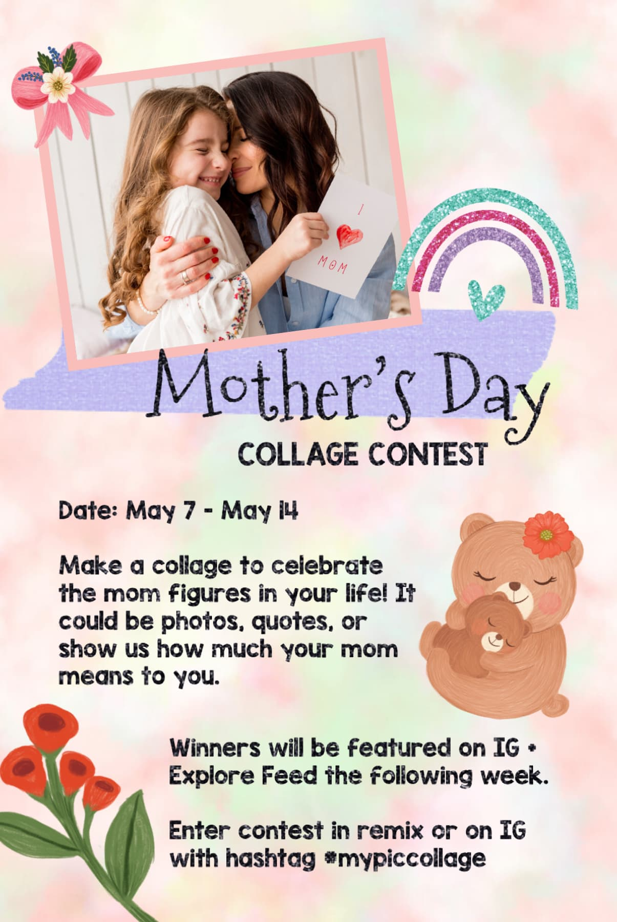 Mother's Day collage contest is live! 💖 Live through next Thursday 5/14!