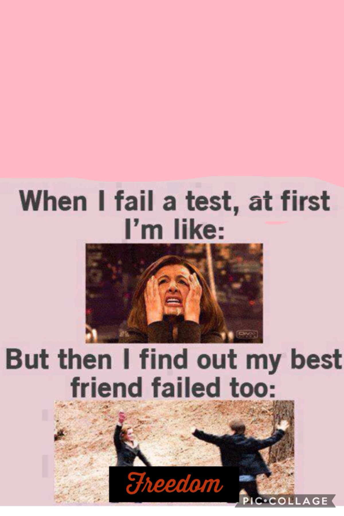 Testing horrible you and your friends fail the test awesome