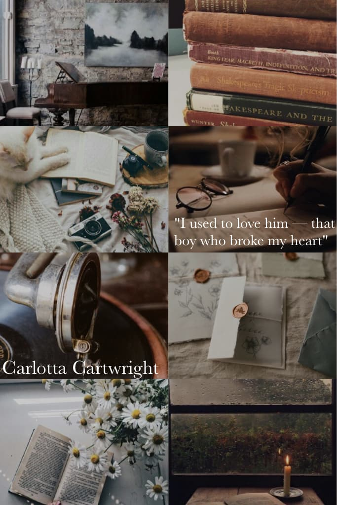 An aesthetic for Carlotta for you😊💕 Let me know if this fits how you visualised her😉