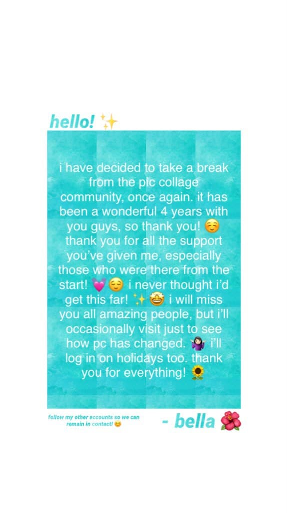 goodbye! thank you for everything! 💕☺️