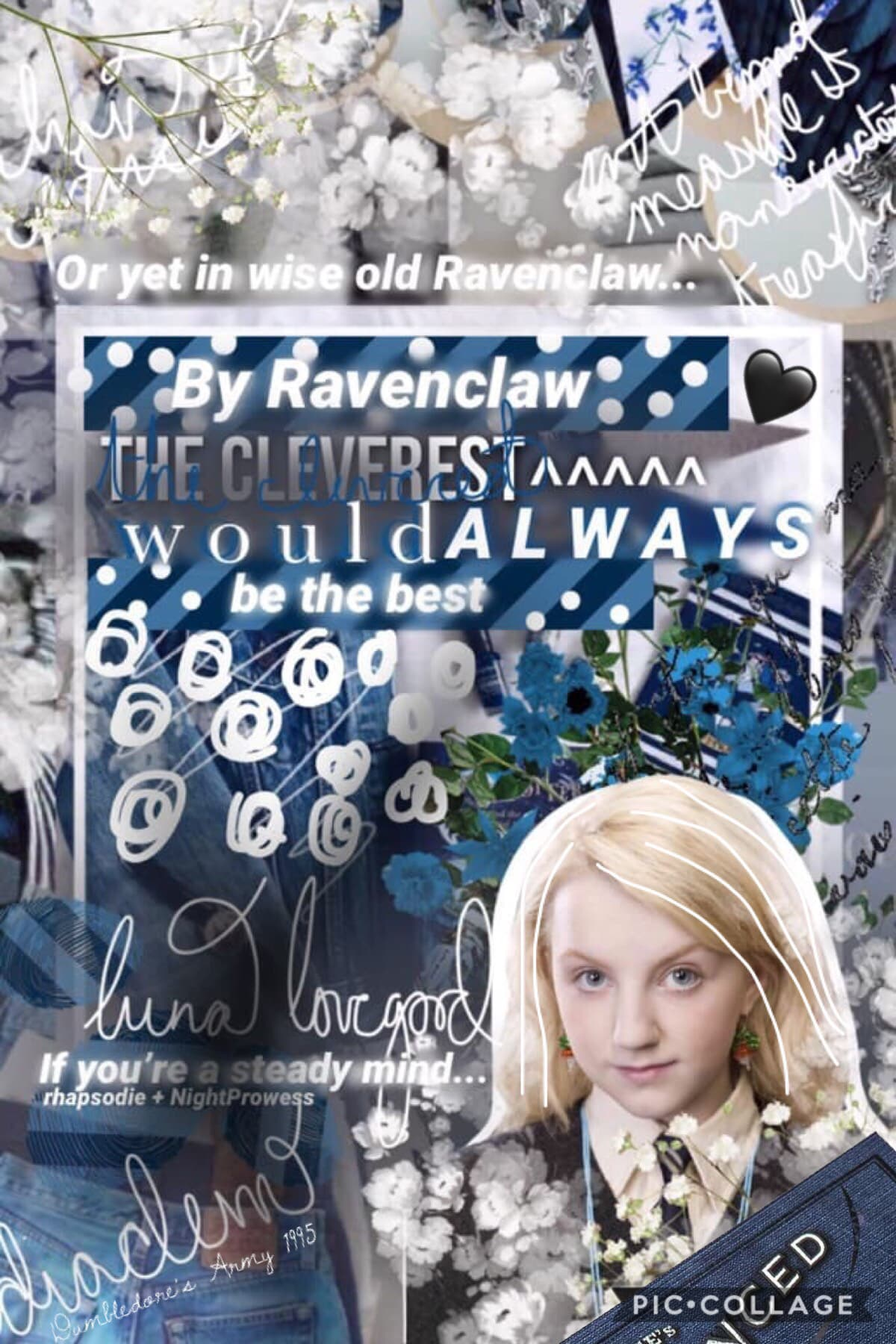 ⚡️💙•Tap•💙⚡️ It's been like two weeks since I last posted oof😂 ✨🖤• COLLAB WITH THE AMAZING RHAPSODIE•🖤✨ Fun Fact: I used to be a Ravenclaw, but now I've definitely shifted towards Gryffindor or Slytherin. Happy Mother's Day to all the mothers out there💜 🔥N