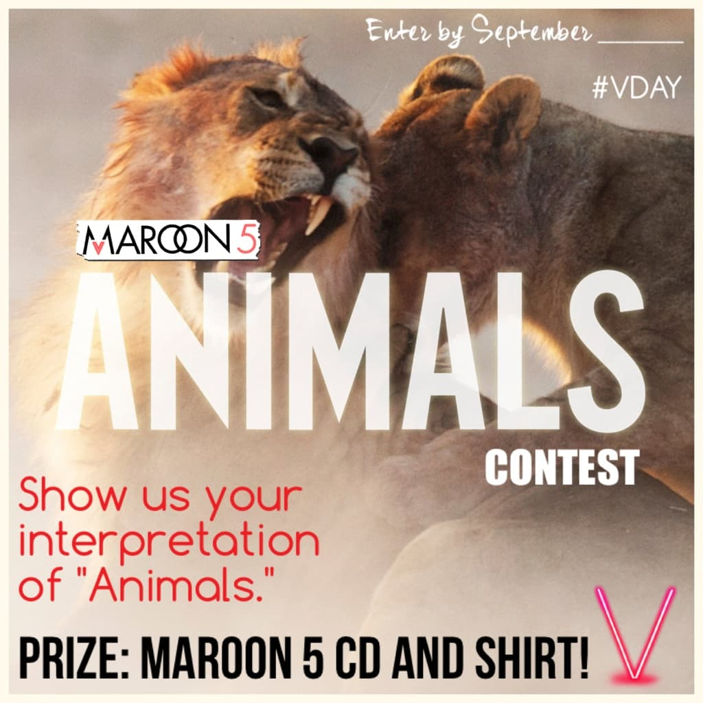 Maroon 5 contest #2!  Prize: Maroon 5 CD and shirt!