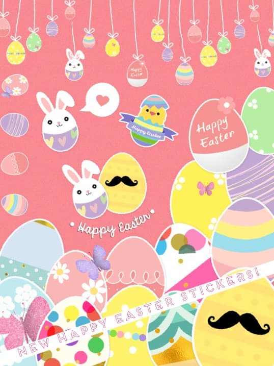 New Happy Easter stickers!  Have you made and #Easter collage yet?