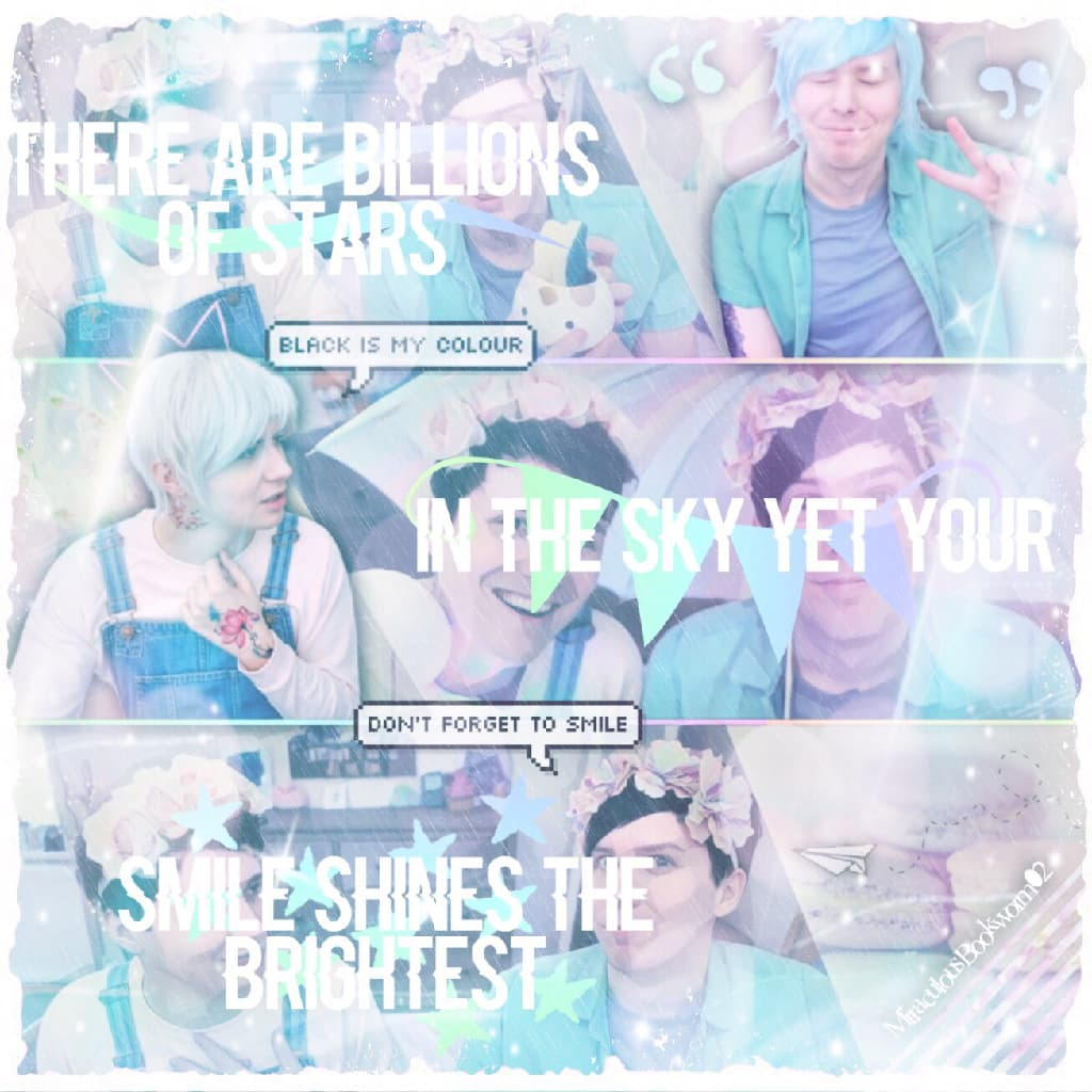 "danisnotonfire and AmazingPhil [Dan and Phil] pastel edit (I'm kinda happy with the colours used in this edit! I might do more of these in the future. Also, I'm very happy that Mark made the ""Respect"" video, as it completely sums up the whole ""Felix situa"