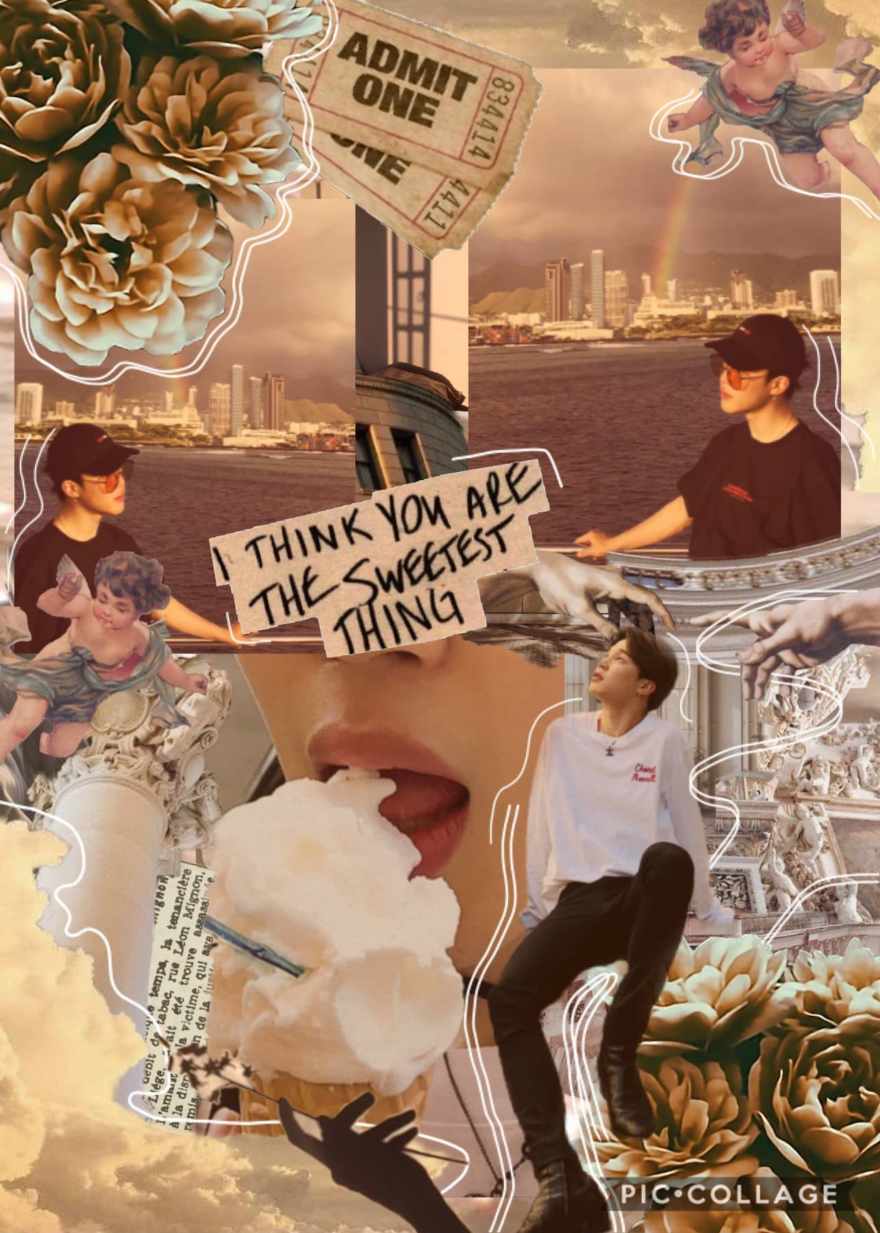 —tap—  ⭐️ HAPPY JIMIN DAY ⭐️ I hope you have a wonderful day Jimin, you always cheer me up when I'm down, you mean so much to me ❤️ remember to look after yourself and stay happy 😁  inspired by @moonjoon she is one of my all time favourite collagers 💕