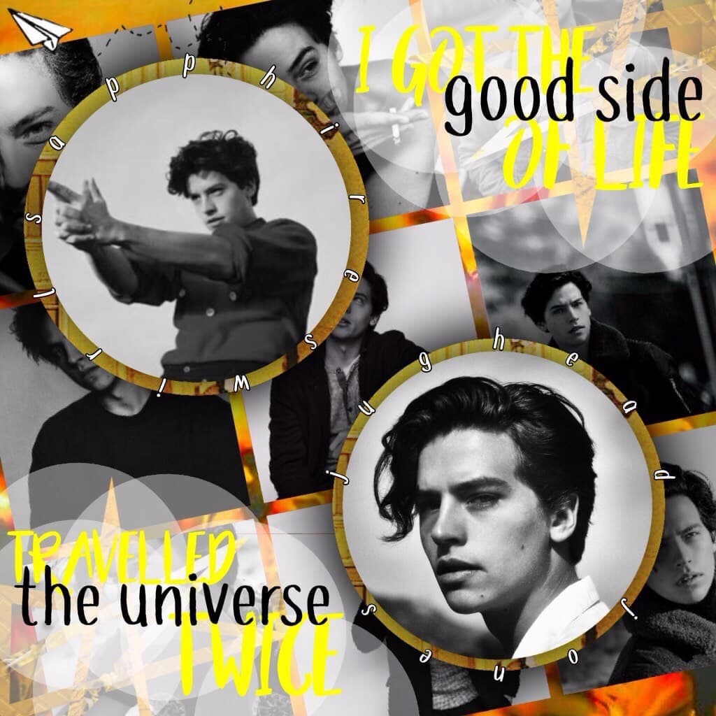 💛yellow jughead edit💛 💜actually it's just Cole Sprouse but who cares💜 ❤️I'll try to be more active on here, I promise❤️  *entry to hermionejeaneverdeen's games*  💜💜