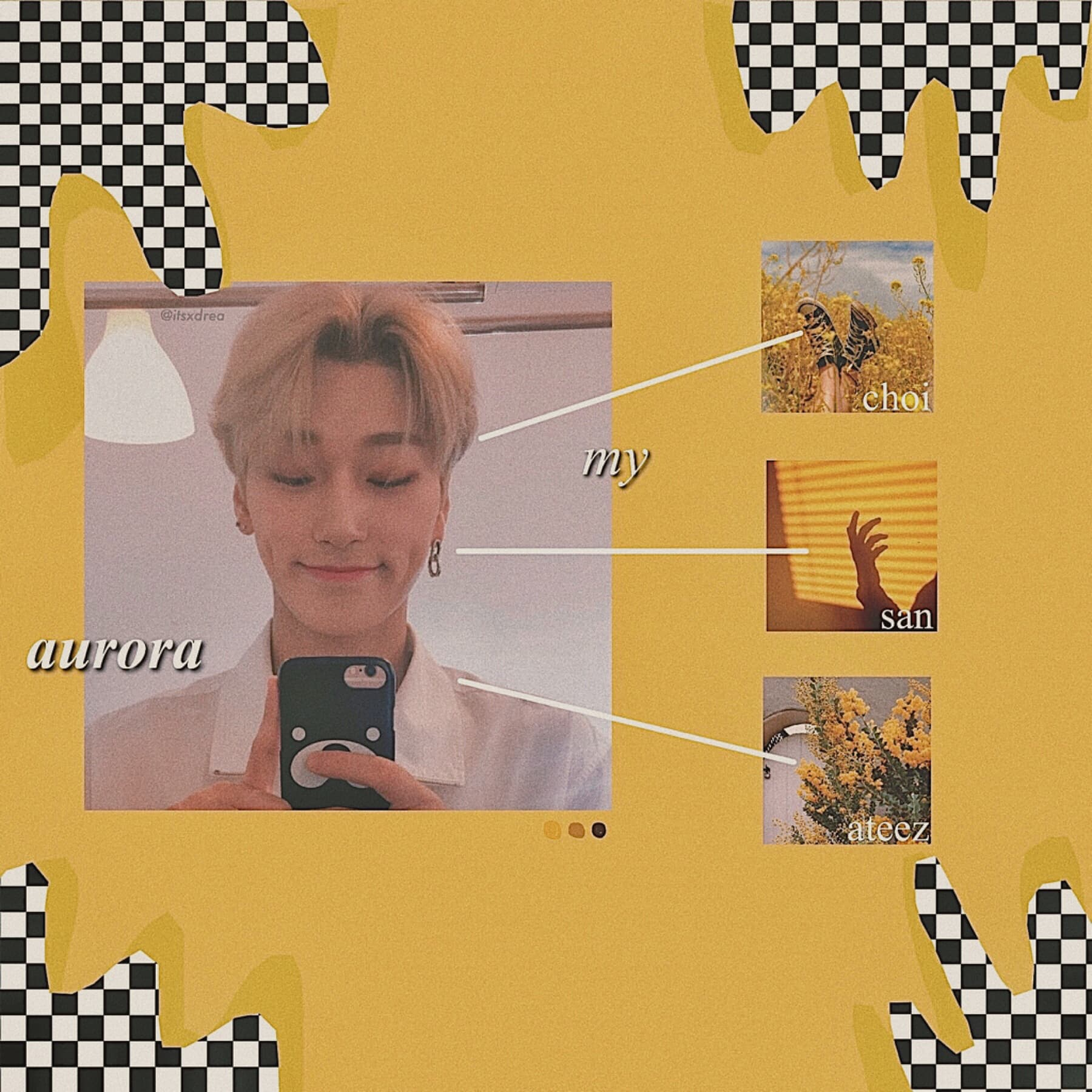 🌻 • choi san // ateez • > edit request for @multistan_ < omg i really wanna pre-order superm's new album, but i'm broke 😻 ALSO WEAR YOUR MASK P L E A S E 🙈🥰