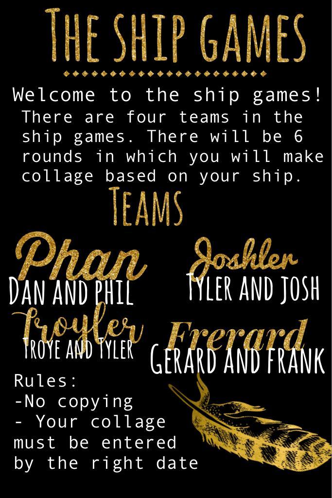 The ship games!!!!!!!!