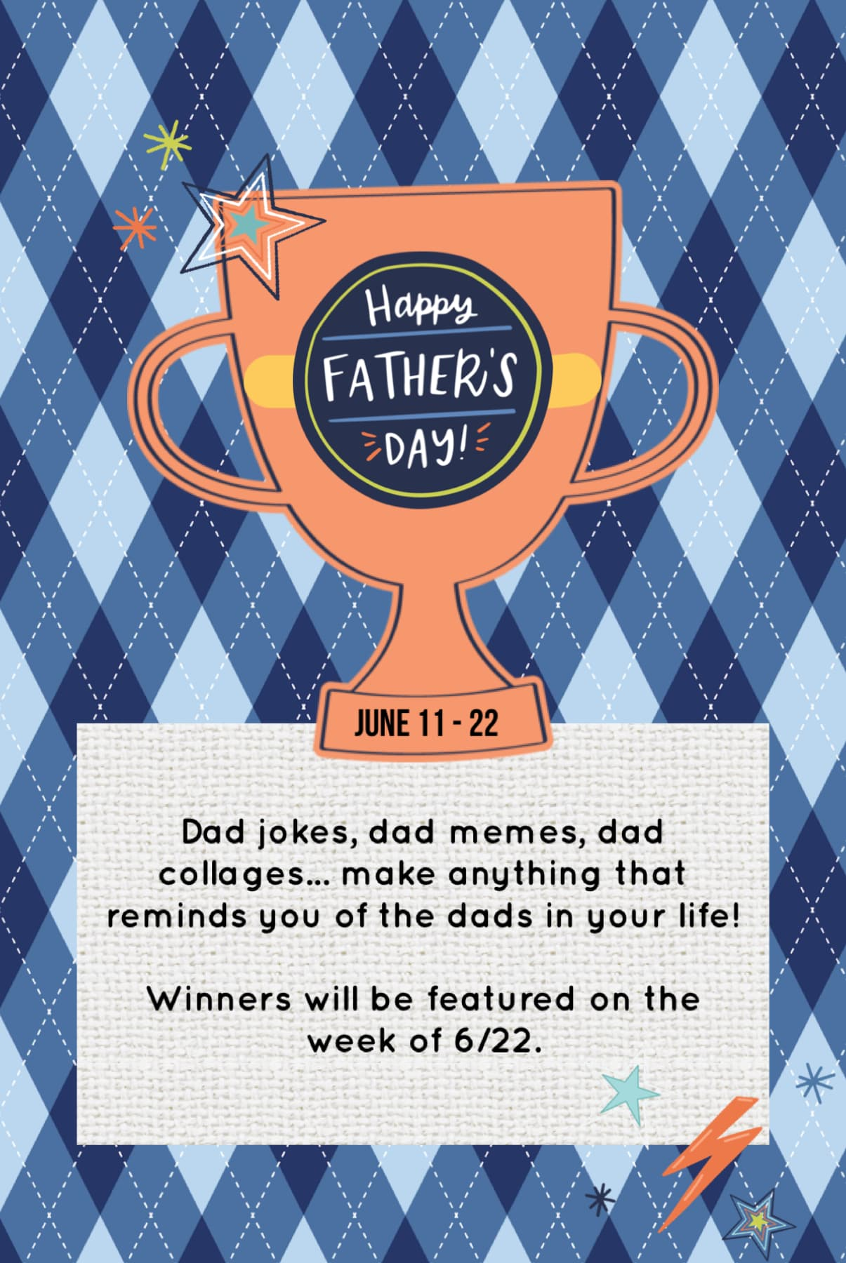Father's Day contest is live! Submission period is extended this time 🤗