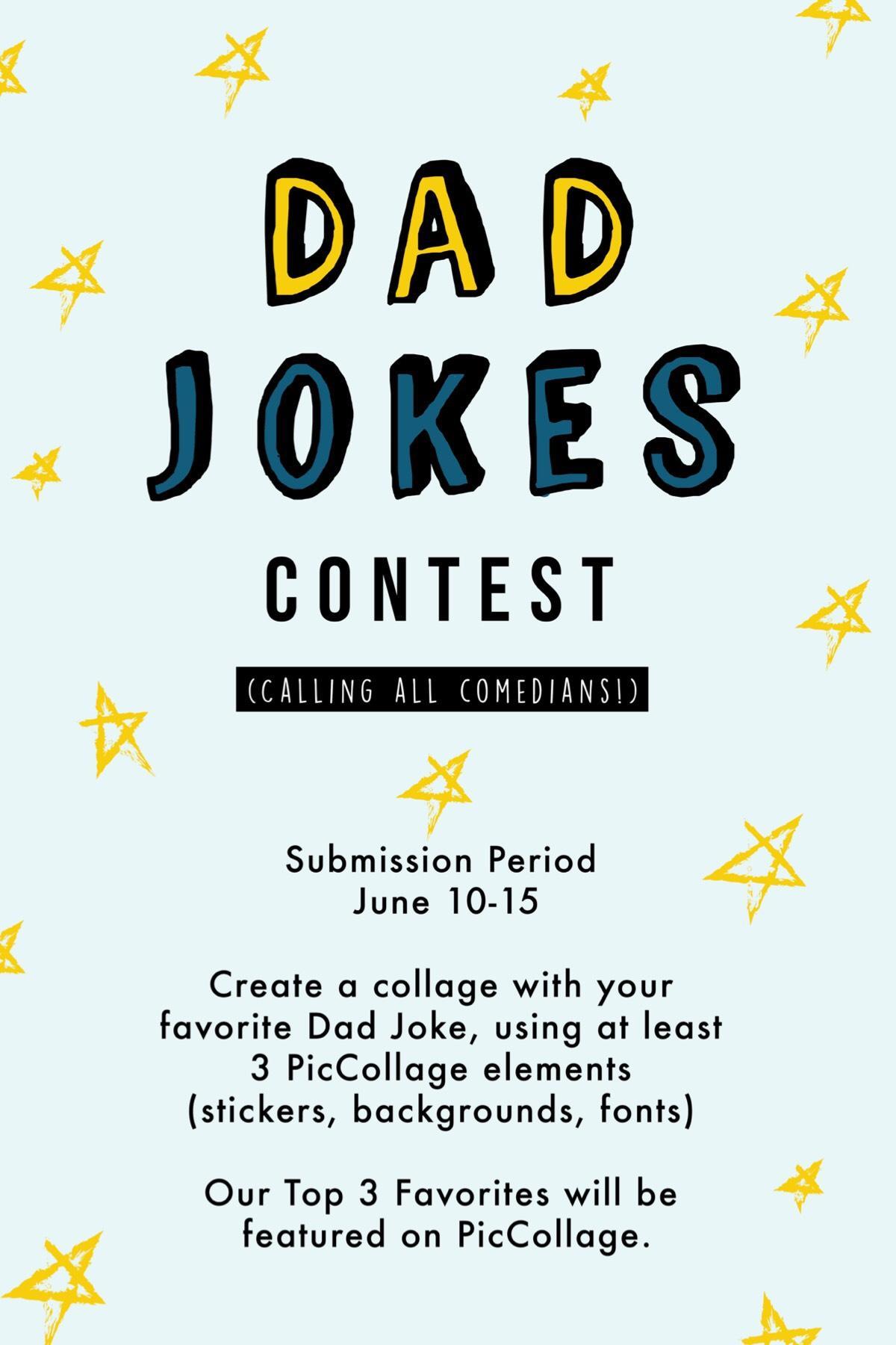 Tell us your favorite dad jokes! 🤣Deadline is June 15, 2019!