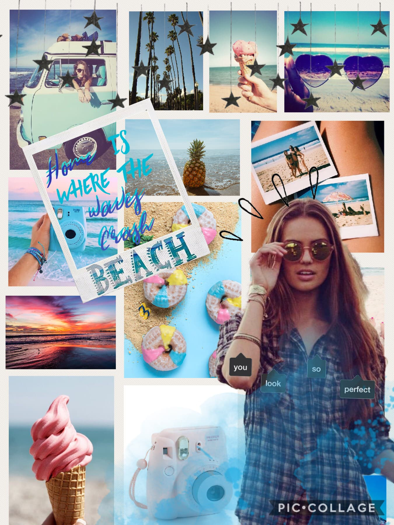 🏖Tap 🏖  I love this beach collage.