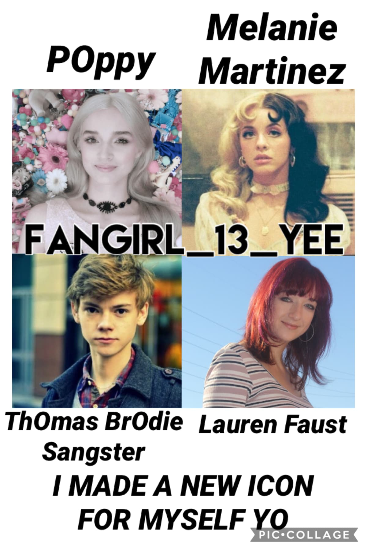 It's my favOrite peOple :P I wOuld Have put Tara StrOng, the actress that plays Twilight Sparkle, but I figured since I already had One actOr On it, then I wOuld put the creatOr Of the newest MLP series, Lauren Faust, instead :D