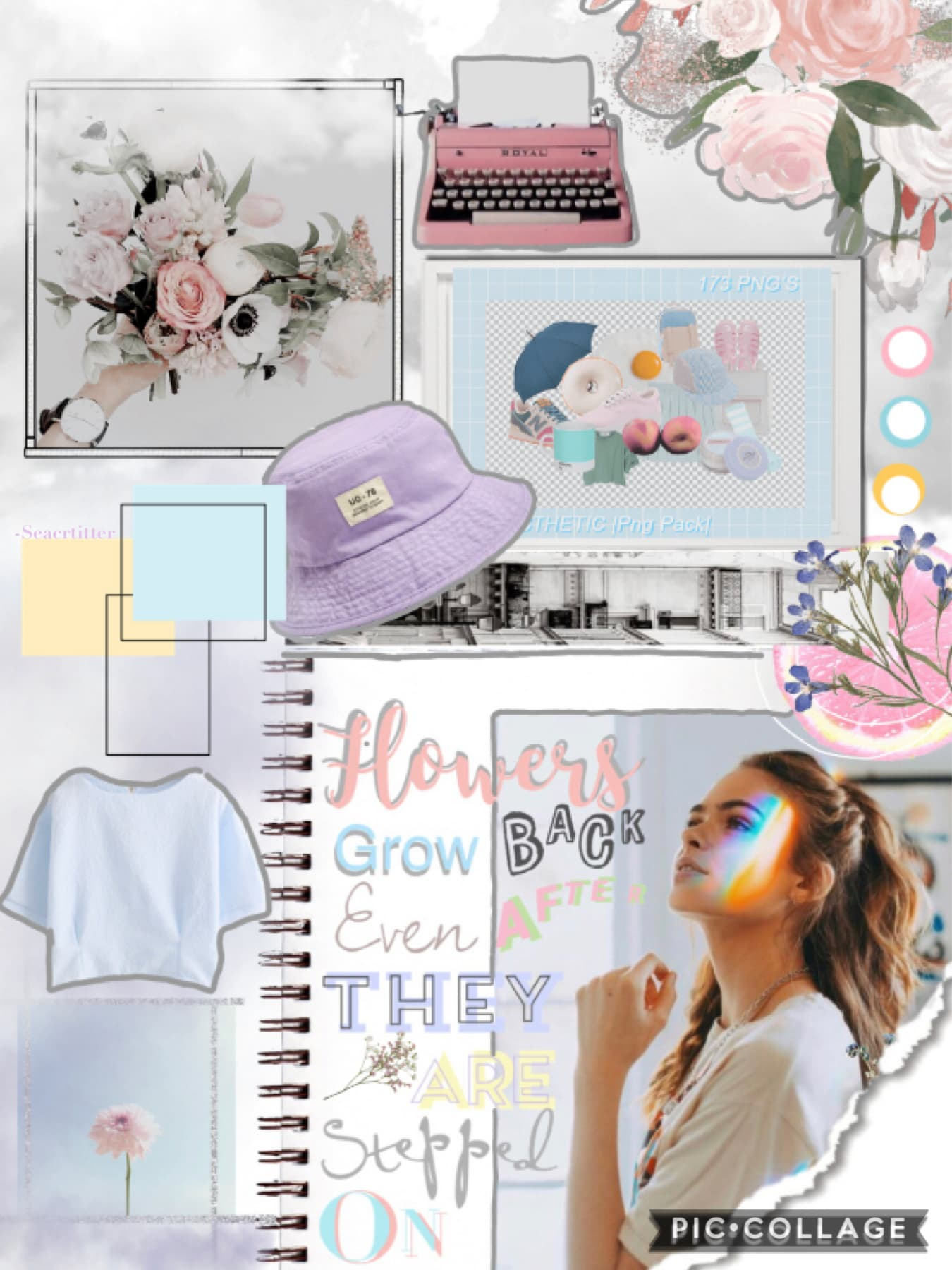 🌸tap me!🌸 I have mixed opinions on this collage, at one point I literally hated it, but I was able to get an honest opinion from a friend, so I guess here it is??? I dunno I feel like it's not my best work, but I like the colours?🥴