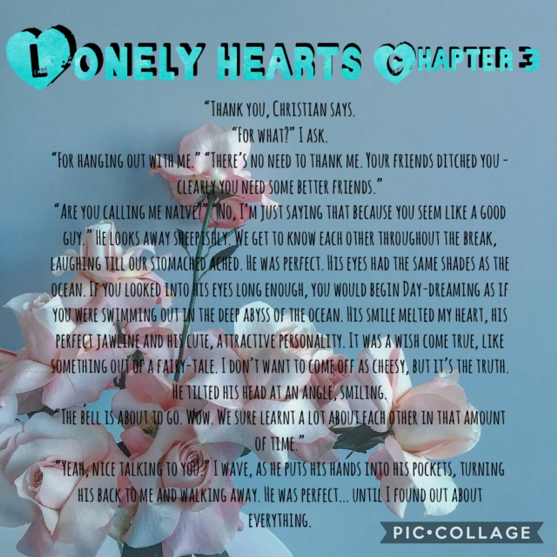 🥳TAP🥳  HAPPY NEW YEAR EVERYBODY!!  Third chapter of Lonely Hearts. See what happens next in my next chapter - soon to come!