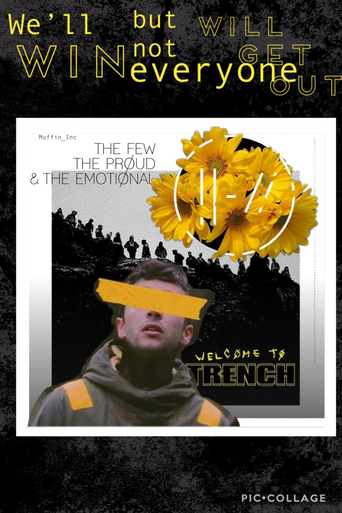 """🌼TaP I love twenty øne piløts because it talks about mental health so much. """"We'll win but not everyone will get out"""" resembles the fact that we will win against our mental illnesses but not everyone will. Not everyone will get out. Tags twenty one pilots"""